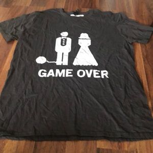 """Other - Groom """" Game Over"""" T-shirt"""